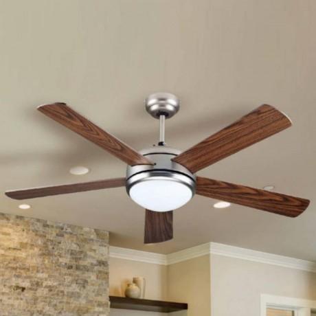 132 см таванен вентилатор с 5 перки от MDF, LED осветително тяло и дистанционно V-TAC