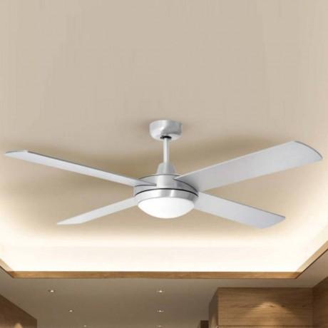 132 см таванен вентилатор с перки от MDF, две осветителни тела и дистанционно V-TAC