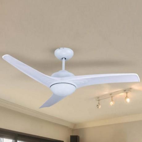 132 см таванен вентилатор с 3 перки от ABS, LED осветително тяло и дистанционно V-TAC