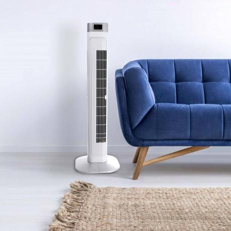 Бяла вентилаторна кула с таймер, дисплей и дистанционно V-TAC