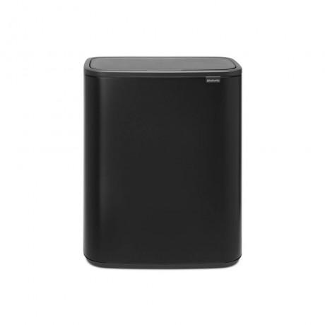 2 х 30 л матирано черен кош за смет Brabantia от серия Bo Touch