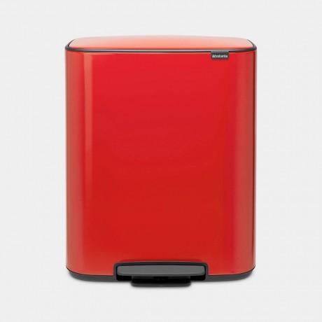 60 л страстно червен кош за смет Brabantia от серия Bo Pedal