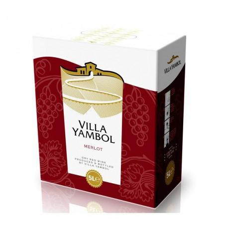 Червено вино Вила Ямбол Мерло 5 л 13,5%