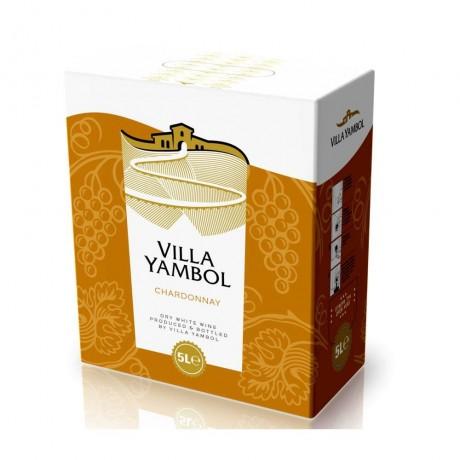 Бяло вино Вила Ямбол Шардоне 5 л 12,5%
