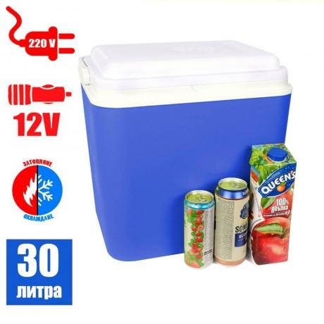 30 л активна охлаждаща и затопляща термо кутия с дръжка на 12V и 220V ATLANTIC