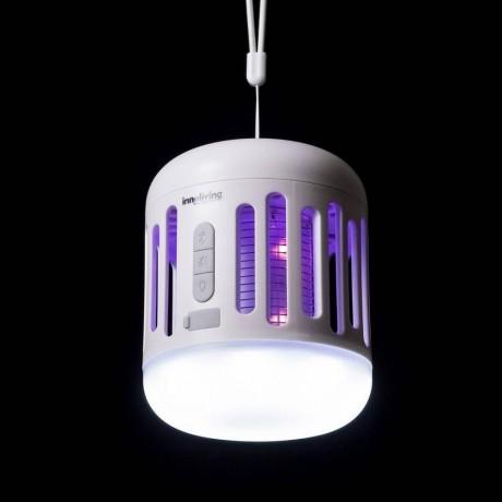 Малка лампа против комари с акумулаторна батерия и допълнителна светлина INNOLIVING