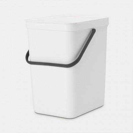 25 л бял кош за смет за разделно събиране Brabantia от серия Sort&Go