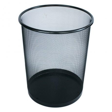 20 л метално черно плетено кошче за боклук подходящо за офис
