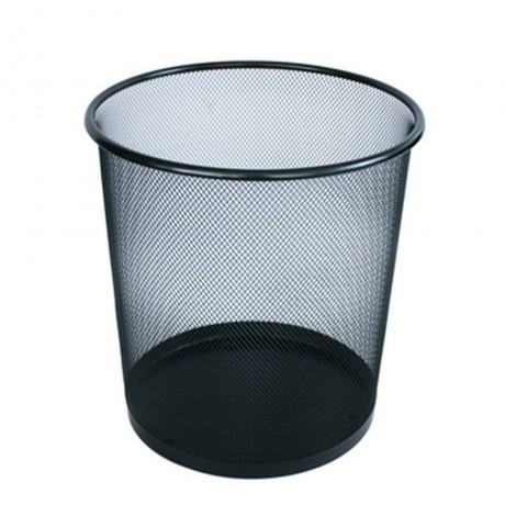 13 л метално черно плетено кошче за боклук подходящо за офис