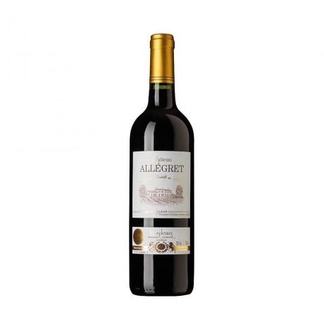 Червено вино Chateau Allégret Бордо Руж Виньобал Жубер 0,75 л 13%