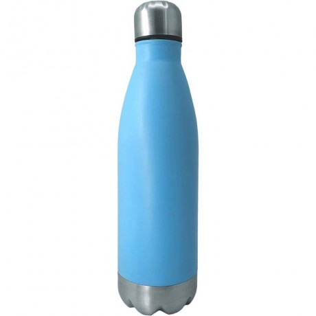 0,75 л синя туристическа бутилка с иноксови капак и дъно от Nerthus