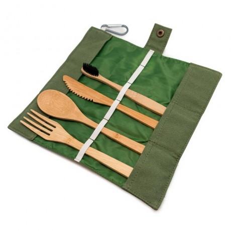 Бамбуков комплект прибори за храна от Nerthus