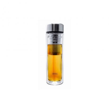 0,35 л двустенна стъклена бутилка с инфузер и неопренов протектор от Nerthus