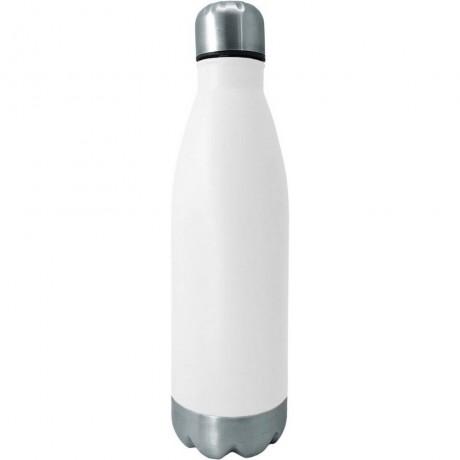 0,75 л бяла туристическа бутилка с иноксови капак и дъно от Nerthus