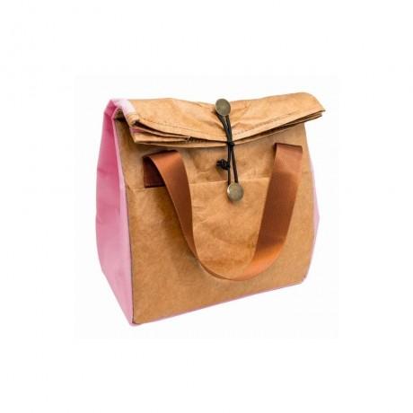 Розова термоизолираща чанта за храна от Nerthus