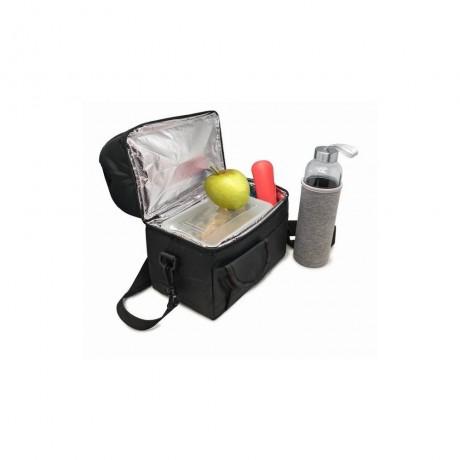 Черна термоизолираща чанта за храна с 2 джоба от Nerthus