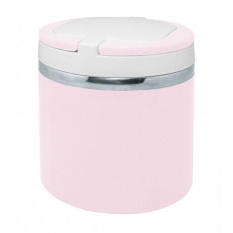 0,7 л пастелено розова стоманена двустенна кутия за храна от Nerthus