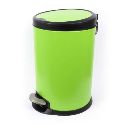 12 л зелен кош с педал и вътрешна кофа Fantasy