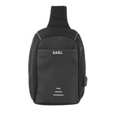 Смарт чанта през рамо черна - SWISSDIGITAL