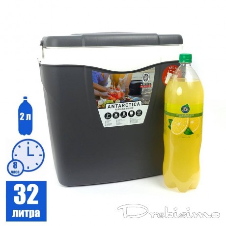 32 л антрацитена пасивна хладилна термо кутия с дръжка ANTARCTICA