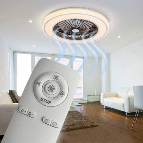55 см таванен вентилатор с осветително тяло светещ ринг и дистанционно