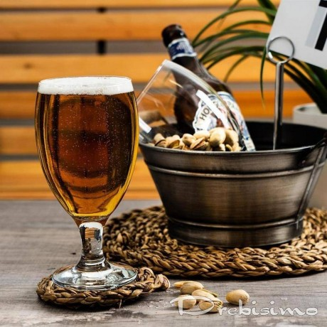 6 бр стъклени чаши на столче за бира по 0,5 л LAV модел Empire
