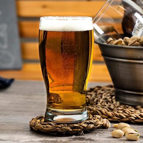 6 бр стъклени чаши за бира по 0,5 л LAV модел Belek