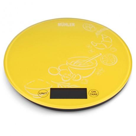 Везна Muhler KSC-2026R кухненска, жълт