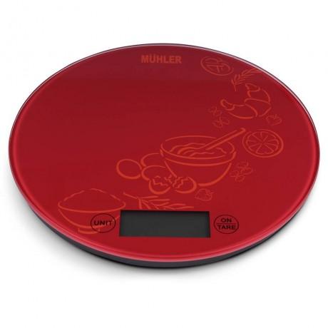 Везна Muhler KSC-2026R кухненска, червен