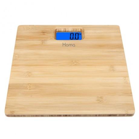 Дигитален кантар с бамбукова повърхност HOMA модел HS-185B