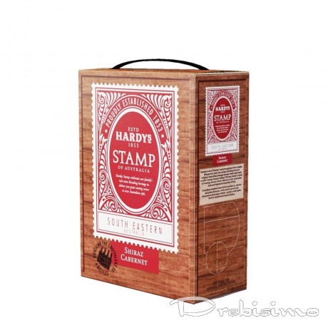 Червено вино Hardys Stamp Каберне Совиньон и Сира 3 л 14,5%