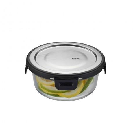 400 мл кръгла стъклена кутия за храна GEFU от серия MILO