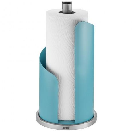 Лазурно синя стоманена стойка за кухненска ролка GEFU от серия CURVE