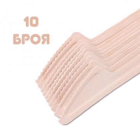 10 бр. дървени ЕКО ножове за еднократна употреба