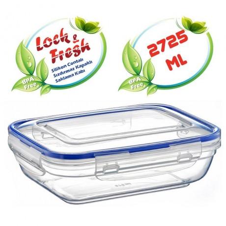 2,725 л плитка правоъгълна херметична кутия за храна Dunya