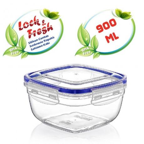 0,9 л квадратна херметична кутия за храна Dunya