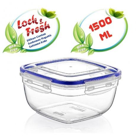 1,5 л квадратна херметична кутия за храна Dunya