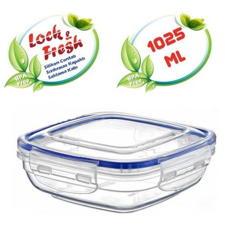 1,025 л плитка квадратна херметична кутия за храна Dunya