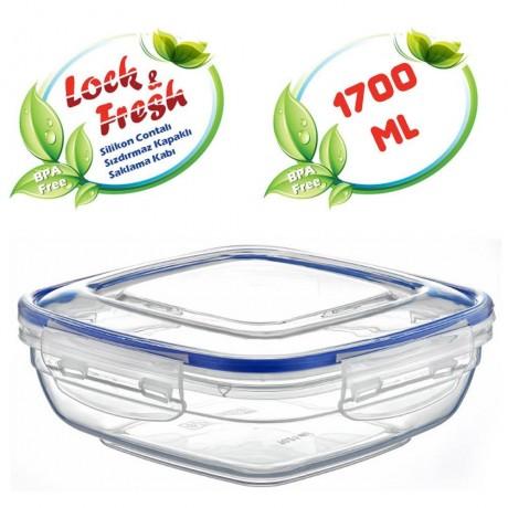 1,7 л плитка квадратна херметична кутия за храна Dunya