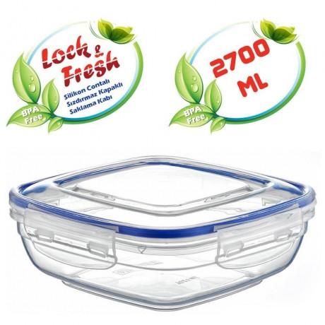 2,7 л плитка квадратна херметична кутия за храна Dunya