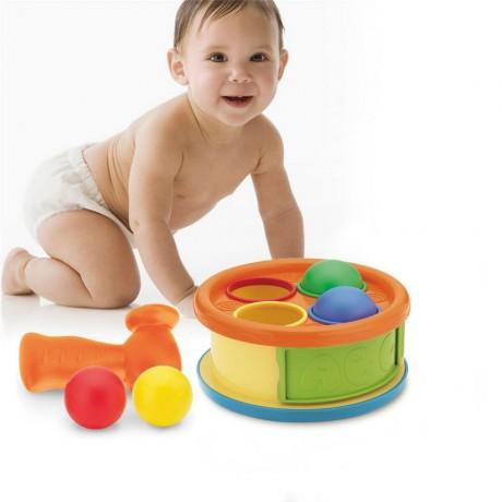 Бебешка игра с барабан, чукче и топки