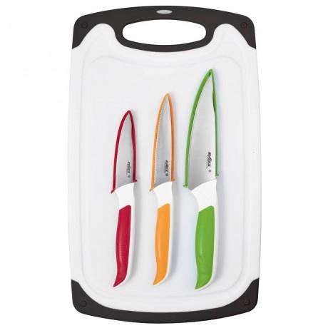 Комплект от 3 бр ножове с дъска за рязане ZYLISS