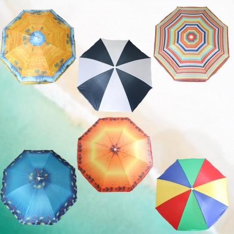 1,6 м разноцветен плажен чадър Muhler модел U5037 микс цветове