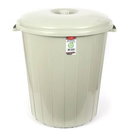 50 л сив кош за боклук с капак Planet