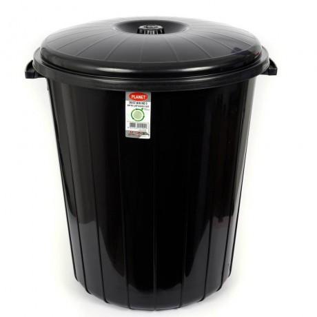 50 л черен кош за боклук с капак Planet