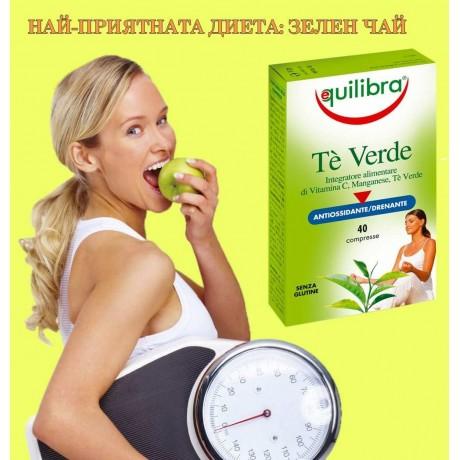 Зелен чай за отслабване - таблетки