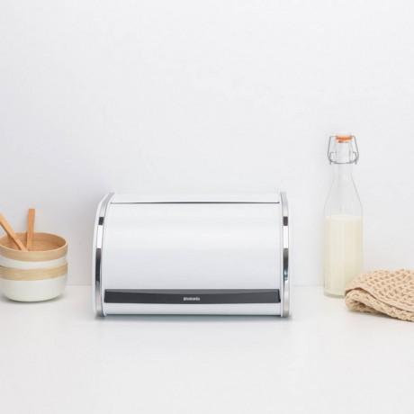 Бяла кутия за хляб с въртяща вратичка Brabantia