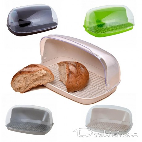 Пластмасова кутия за хляб с прозрачна вратичка