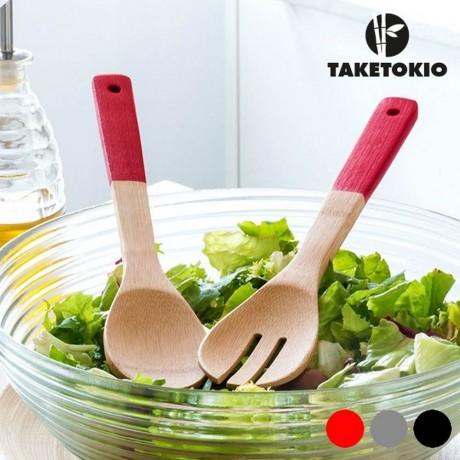 Бамбукова вилица и лъжица TakeTokio