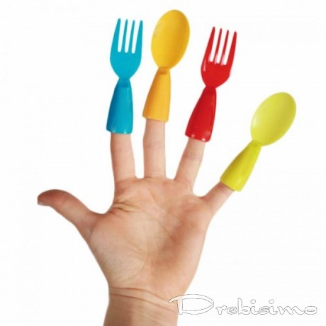 Напръстници с форма на прибори за хранене